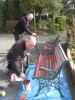 Bench Painting Boys Frank Elson & Phil Clarke