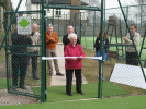 Dorothy Whitehouse officially opens the courts