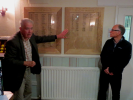 Unveiling of Roll of Honour Plaques by Derek Newport with President Mike