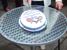 Cutting The Cake at the 90th Celebration