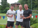 2017 Presentation to the Winners of the Men's Doubles, Andy and Josh Maughan