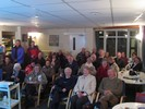 The packed clubhouse at Dave's Climbing Talk.