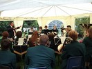 Trentham Brass Band playing in the marquee